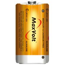 Baterai LR14 C alkali kering