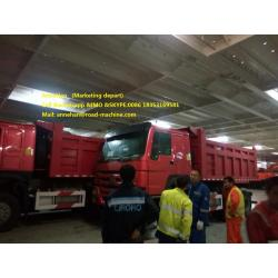 Red color Sinotruk 18m3 dump truck