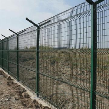 изогнутый забор для моста из сварной проволоки