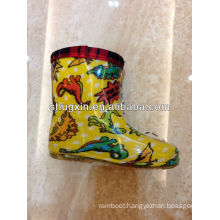 children pvc plastic cheap yellow rain boots