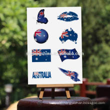 2016 body art metallic temporary tattoo sticker The national flag