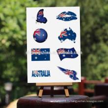 2016 боди-арт металлическая временная наклейка с изображением татуировки Национальный флаг