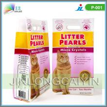 Sac de litière pour chat latéral et gousset