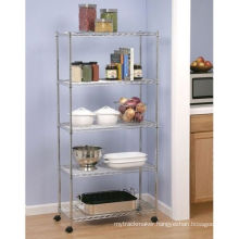 Adjustable Assembly Chrome Wire Shelving Rack (CJ7535180B5CW)