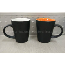Taza de cerámica de dos tonos, taza de ceramien tazas de café