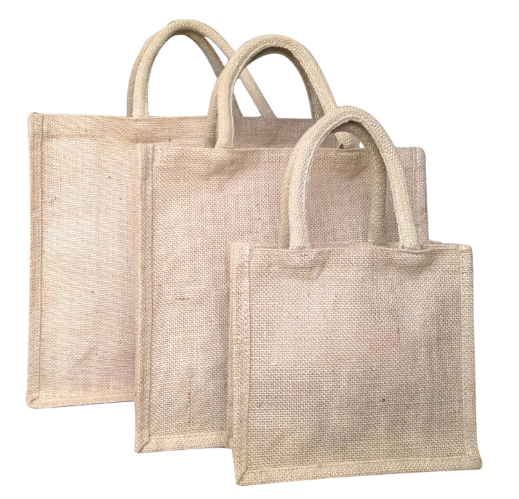 The lock edge jute handbag