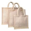 Customize the lock edge jute handbag wholesale