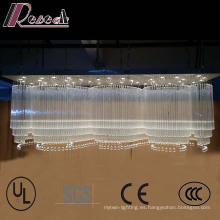 Vestíbulo del hotel Large Wave Shapes Luxury K9 Crystal Chandelier