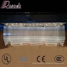 La grande vague de formes d'hôtel façonne le lustre en cristal de luxe de K9