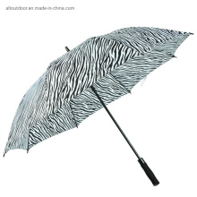 Huge Customized Manufacturers Windproof Full Printing Zebra Golf Umbrella Prints Ads for Rains