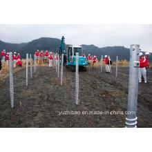 Heißer DIP Galvanisierter Stahl Bodenschraube Anker, Bodenschraube