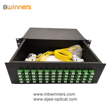 3U 96 Kerne LC Duplex Fiber Optic Termination Box Patchfeld
