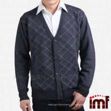 Hot Sales malha Cardigan Men Cashmere camisola