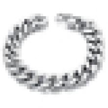 Heavy Metal Cuban Curb Gliederkette Herren Armband Edelstahl Silber 22cm Länge