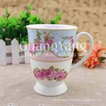 Tasses de café de forme personnalisée de qualité brillante d'approvisionnement d'usine