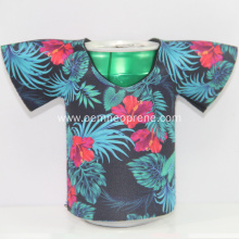 Flower Pattern T-shirt Promotional Neoprene Can Coolers