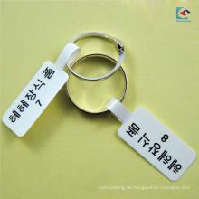Individuell gestaltete Schmuck-Ring-Intervall-Label-Aufkleber glänzende Laminierung