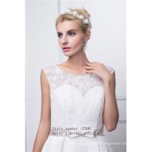 sleeveles beaded embroidery bodice accept taffeta wedding dress