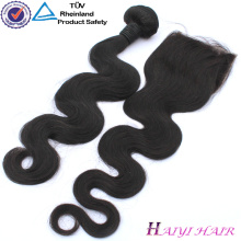 Virgin Hair Straight Style natural hairline Filipino human hair lace closure