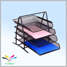 4 tiers metal mesh black a4 size document file tray for office