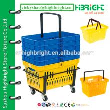 Корзина для покупок в супермаркете, корзина для покупок с заказной печатью логотипа, пластиковые корзины для продажи на продажу