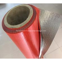 Tissu ignifuge de feuille d'aluminium GlassFiber