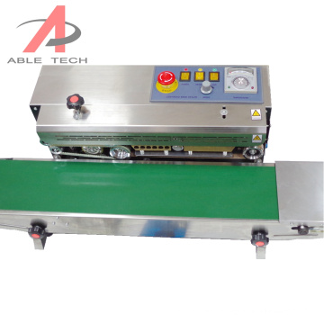 Plastic Bag Food Pouch Packing Mechanical Automatic Continuous Sealing Machine Band Sealer