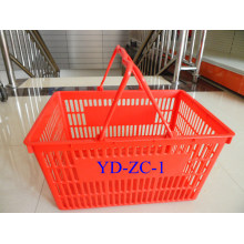 Supermarket New PP Shopping Double Hand Basket