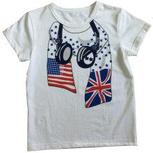 T-shirt do menino da forma na roupa das crianças com impressão Sqt-604
