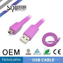 SIPU de alta calidad usb cable de audio 2.0 al por mayor 1 m micro usb cable mejor precio mini cable usb