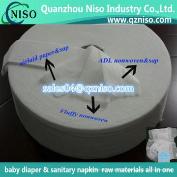 Papel absorbente de Sap Airlaid para el pañal del bebé con precio al por mayor de la fábrica