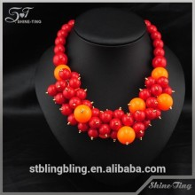 colorful acrylic fashion jewelry necklace new model 2015