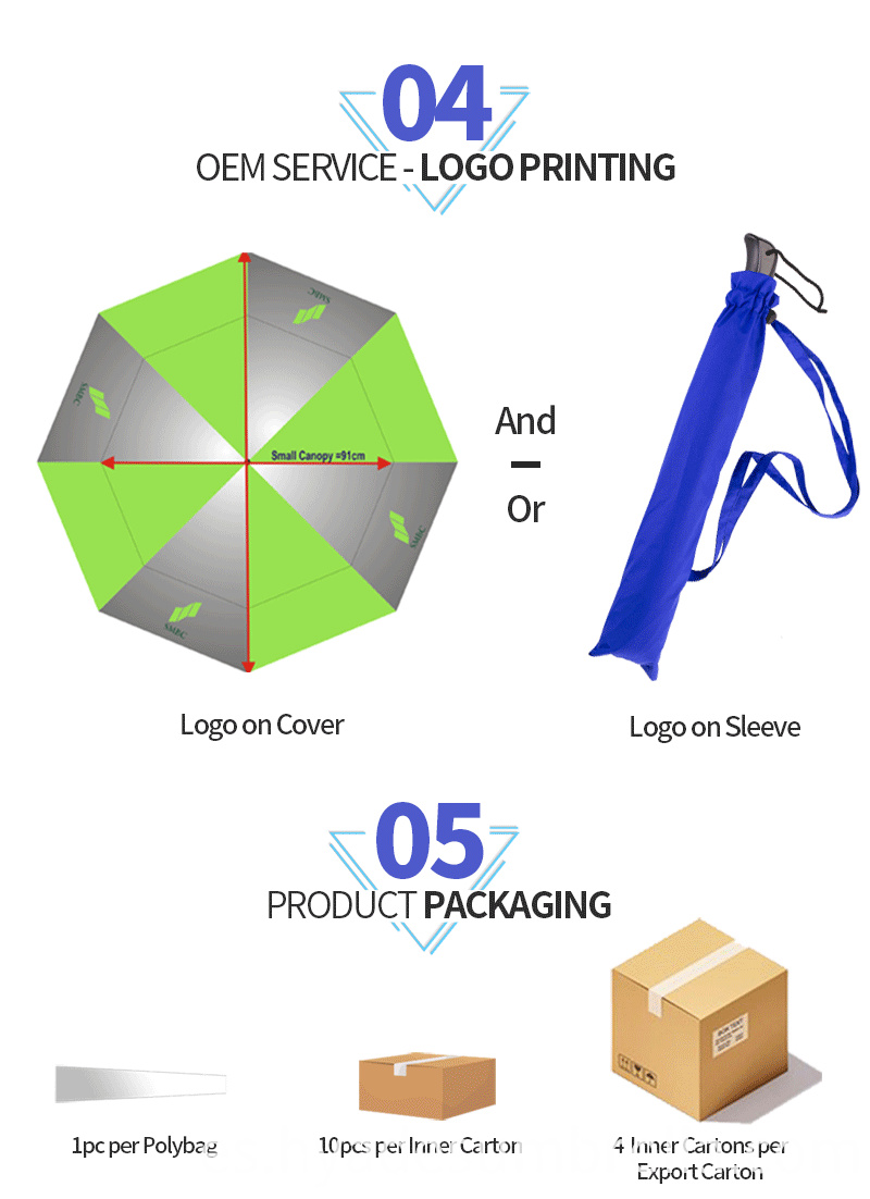 Folding Golf Umbrella Brand Pride