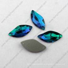 A máscara azul decorativa do zircão S do preço de fábrica costura no cristal de rocha para o vestido de casamento