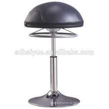 Height Adjustable European black synthetic leather round ball stool home stool for lift table