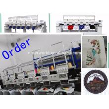 12 agulhas 6 cabeças cap / t-shirt / máquina de bordar plana