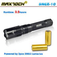 Maxtoch SN6X-10 Praktikabilität Polizei Taschenlampe 2012