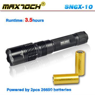Linterna de la policía de Maxtoch SN6X-10 factibilidad 2012