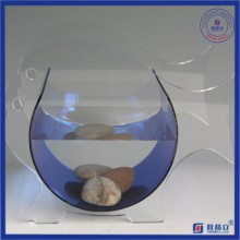 Irregular Plexiglás redondo de acrílico Fish Tank