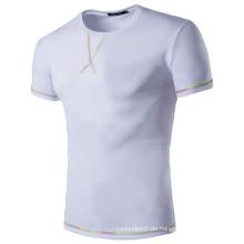 Großhandel Plain White 100% Baumwolle T-Shirts für Männer