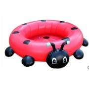 Cartoon Coccinella Inflatable Water Toys For Lakes Baby Sea