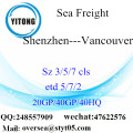 Shenzhen Port Sea Freight Shipping para Vancouver