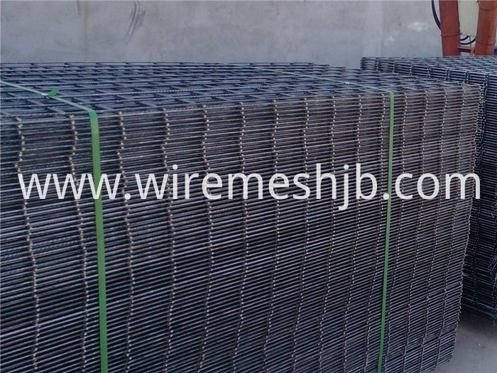 Black Steel Welded Wire Fence