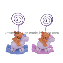 Polyresin Sculpture Bear Card Clip Souvenir Gifts