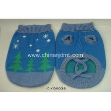 Blue sweater pet clothes