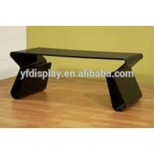 Table basse et table de salon en acrylique noir de haute qualité