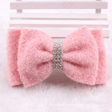 Pink Cotton Bowknot Hair Clip