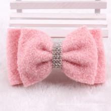 Розовый Хлопок Bowknot зажим для волос