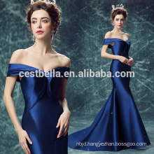 Alibaba Off shoulder Elegant Slim Royal Blue Sexy Mermaid Evening Dress 2017