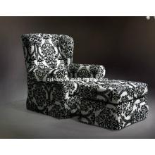 Moderne Einzel-Sofa mit Fußstütze